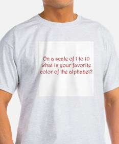 ON A SCALE OF 1 TO 10, WHAT IS YOUR  T-Shirt