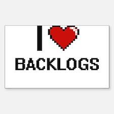 I Love Backlogs Digitial Design Decal