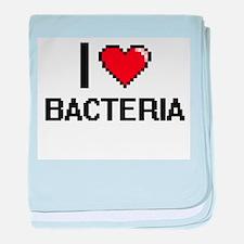 I Love Bacteria Digitial Design baby blanket