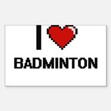 I Love Badminton Digitial Design Decal