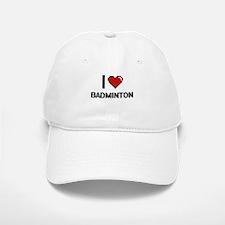 I Love Badminton Digitial Design Baseball Baseball Cap