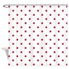 White & Red Polka Dots Shower Curtain
