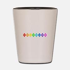 colorado rainbow diamonds Shot Glass