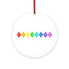 colorado rainbow diamonds Ornament (Round)