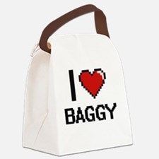 I Love Baggy Digitial Design Canvas Lunch Bag