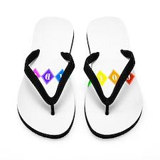 colorado rainbow diamonds Flip Flops