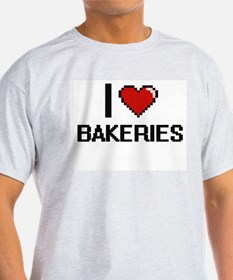 I Love Bakeries Digitial Design T-Shirt