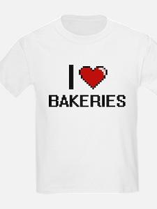 I Love Bakeries Digitial Design T-Shirt