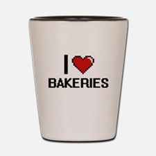 I Love Bakeries Digitial Design Shot Glass