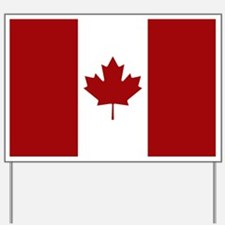 Canada: Canadian Flag (Red & White) Yard Sign