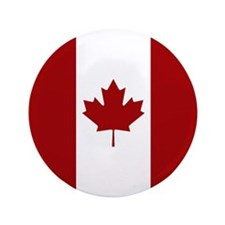 Canada: Canadian Flag (Red & White) Button
