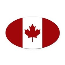 Canadian Flag Oval Car Magnet