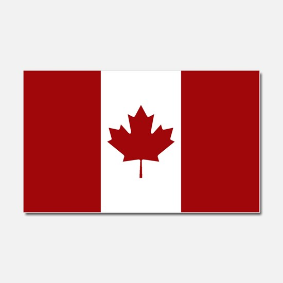 Canada: Canadian Flag (Red & Wh Car Magnet 20 x 12
