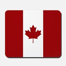 Canada: Canadian Flag (Red & White) Mousepad