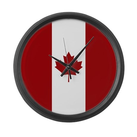 canada canadian flag red whit large wall clock by