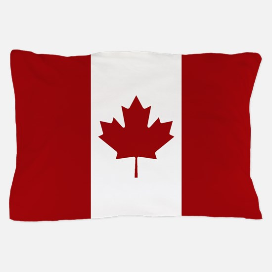 Canada: Canadian Flag (Red & White) Pillow Case