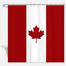 Canada: Canadian Flag (Red & White) Shower Curtain