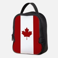 Canada: Canadian Flag (Red & Wh Neoprene Lunch Bag