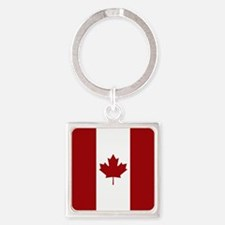 Canada: Canadian Flag (Red & White Square Keychain
