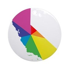 california rainbow Ornament (Round)