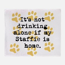 If My Staffie Is Home Throw Blanket
