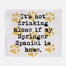 If My Springer Spaniel Is Home Throw Blanket