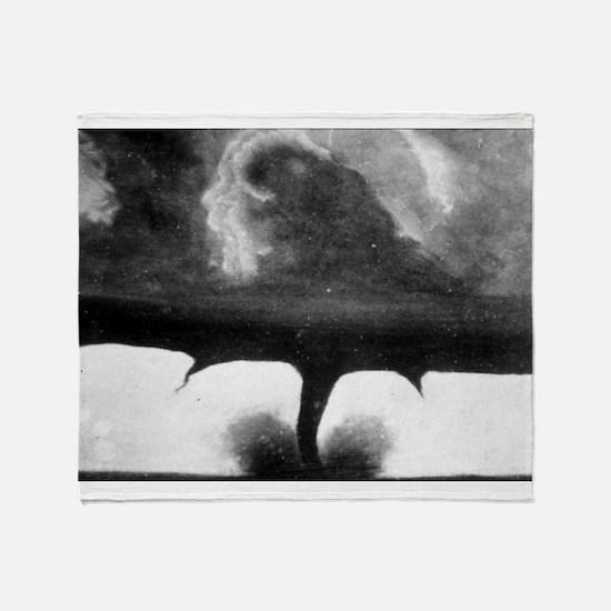 Oldest Tornado photo 1884 South Dakota Throw Blank