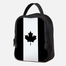 Canada: Black Military Flag Neoprene Lunch Bag