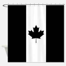 Canada: Black Military Flag Shower Curtain