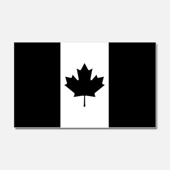 Canada: Black Military Flag Car Magnet 20 x 12