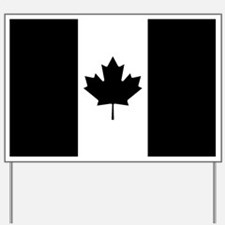 Canada: Black Military Flag Yard Sign