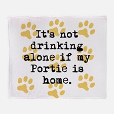 If My Portie Is Home Throw Blanket