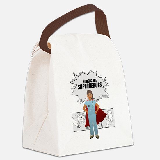 Nurses are Superheroes  Canvas Lunch Bag