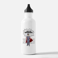 Nurses are Superheroes Sports Water Bottle