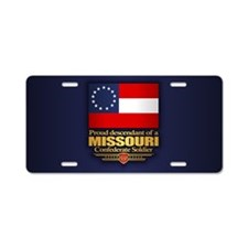 Missouri Proud Descendant Aluminum License Plate