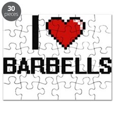 I Love Barbells Digitial Design Puzzle