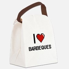 I Love Barbeques Digitial Design Canvas Lunch Bag