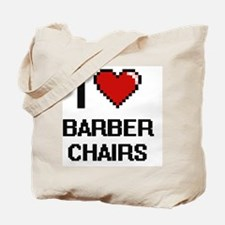 I Love Barber Chairs Digitial Design Tote Bag