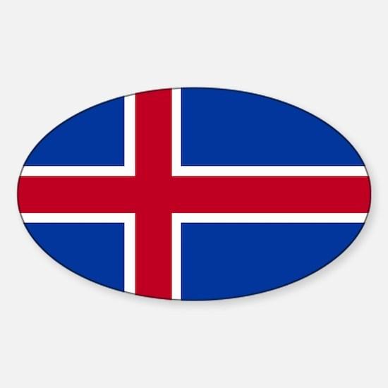 Square Icelandic Flag Decal