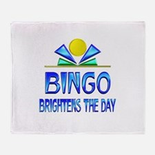 Bingo Brightens the Day Throw Blanket