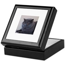 blue British Shorthair cat Keepsake Box