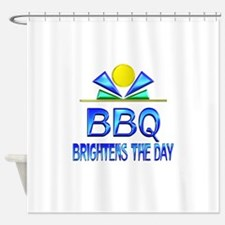 BBQ Brightens the Day Shower Curtain