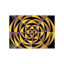 Tigerlike geometric design 5'x7'Area Rug