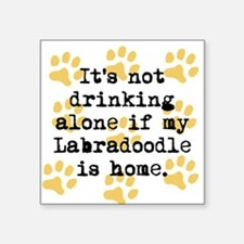 If My Labradoodle Is Home Sticker