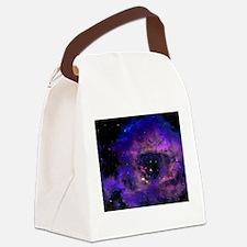 Purple Nebula Canvas Lunch Bag