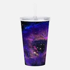 Purple Nebula Acrylic Double-wall Tumbler