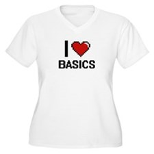 I Love Basics Digitial Design Plus Size T-Shirt