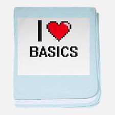 I Love Basics Digitial Design baby blanket