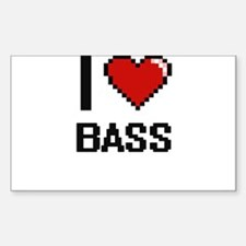 I Love Bass Digitial Design Decal