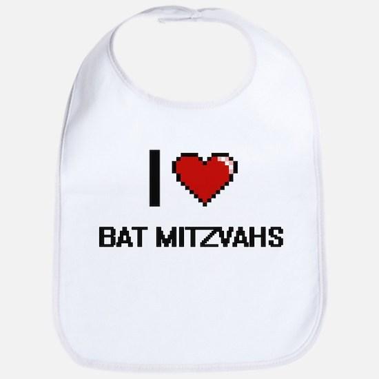 I Love Bat Mitzvahs Digitial Design Bib